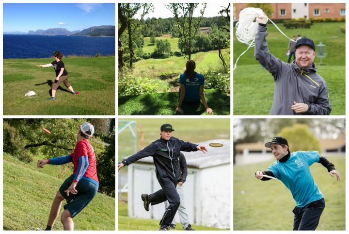 Norske frisbeegolf spillere